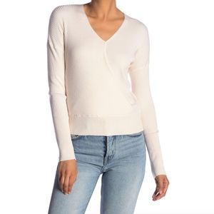Elodie Ribbed Wrap Sweater